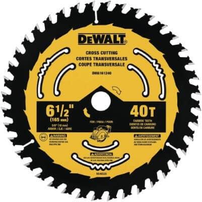 DEWALT DWA161240 6-1 2-Inch 40-Tooth Circular Saw Blade