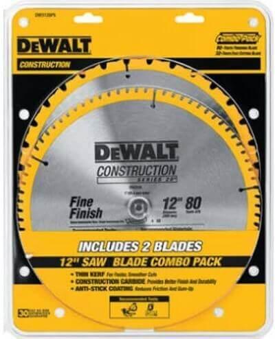 Dewalt Accessories DW3128P5 12-Inch Construction Combination Circular Saw Blade Pack