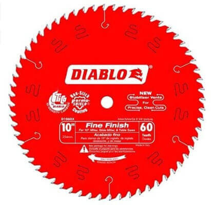 Diabo by Freud D1060X 10 x 60 Tooth Fine Finish Saw Blade