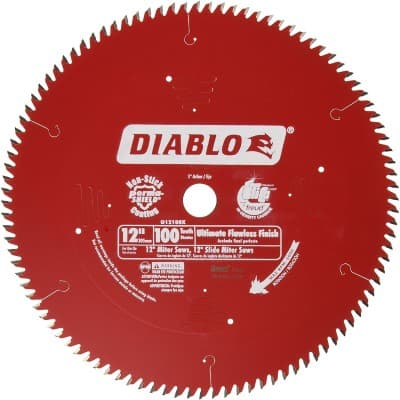 Freud D12100X 100 Tooth Diablo Ultra Fine Circular Saw Blade for Wood and Wood Composites, 12-Inch