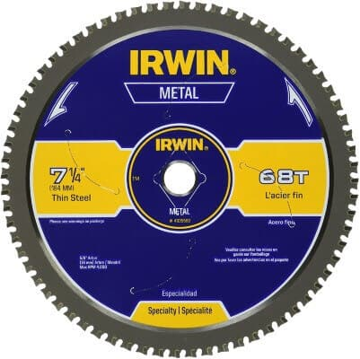 IRWIN 7-1 4-Inch Metal Cutting Circular Saw Blade, 68-Tooth (4935560)