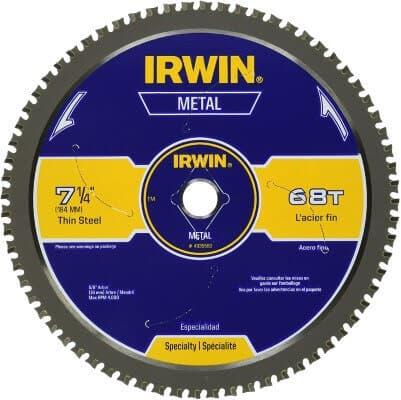 IRWIN 7-1 4-Inch Metal Cutting Circular Saw Blade, 68-Tooth (4935560)