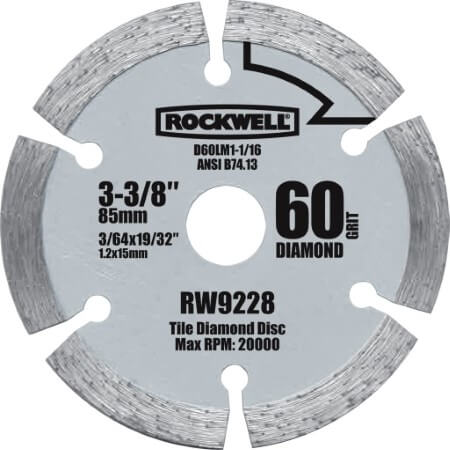 Rockwell RW9228 VersaCut 3-3 8-inch Diamond Grit Circular Saw Blade