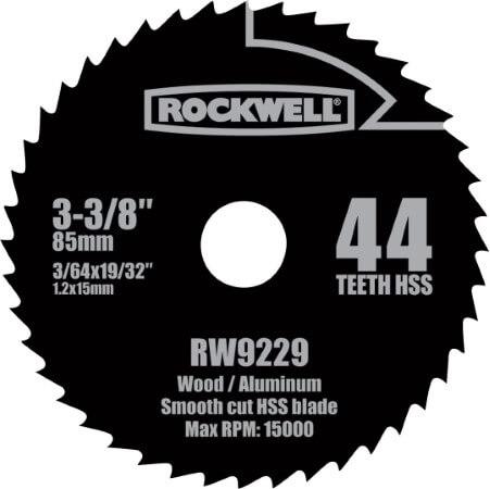 Rockwell RW9229 VersaCut 3-3 8-inch 44T HSS Circular Saw Blade